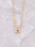 Pave Initial Letter Necklace Anarchy Street Gold- H