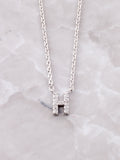Pave Initial Letter Necklace Anarchy Street Silver- H