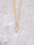 Pave Initial Letter Necklace Anarchy Street Gold- I