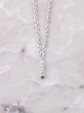 Pave Initial Letter Necklace Anarchy Street Silver- I