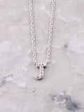 Pave Initial Letter Necklace Anarchy Street Silver- J