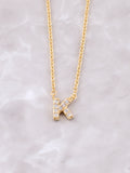 Pave Initial Letter Necklace Anarchy Street Gold- K