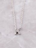 Pave Initial Letter Necklace Anarchy Street Silver- K