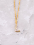Pave Initial Letter Necklace Anarchy Street Gold- L