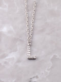 Pave Initial Letter Necklace Anarchy Street Silver- L