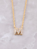 Pave Initial Letter Necklace Anarchy Street Gold- M