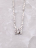 Pave Initial Letter Necklace Anarchy Street Silver- M