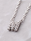 Pave Initial Letter Necklace Anarchy Street Silver - Details- M