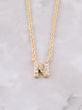 Pave Initial Letter Necklace Anarchy Street Gold- N