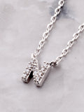 Pave Initial Letter Necklace Anarchy Street Silver - Details- N