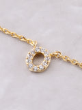 Pave Initial Letter Necklace Anarchy Street Gold - Details- O