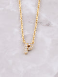 Pave Initial Letter Necklace Anarchy Street Gold- P
