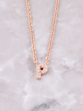 Pave Initial Letter Necklace Anarchy Street Rose Gold- P
