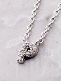 Pave Initial Letter Necklace Anarchy Street Silver - Details- P