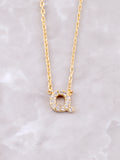 Pave Initial Letter Necklace Anarchy Street Gold- Q