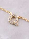 Pave Initial Letter Necklace Anarchy Street Gold - Details- Q