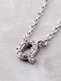 Pave Initial Letter Necklace Anarchy Street Silver - Details- Q