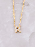 Pave Initial Letter Necklace Anarchy Street Gold- R