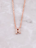 Pave Initial Letter Necklace Anarchy Street Rose Gold- R