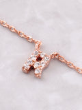 Pave Initial Letter Necklace Anarchy Street Rose Gold - Details- R