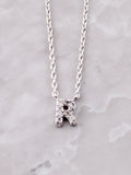 Pave Initial Letter Necklace Anarchy Street Silver- R