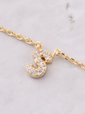Pave Initial Letter Necklace Anarchy Street Gold - Details- S