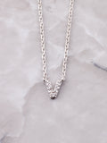 Pave Initial Letter Necklace Anarchy Street Silver- V