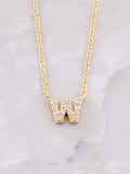 Pave Initial Letter Necklace Anarchy Street Gold- W