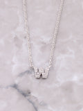 Pave Initial Letter Necklace Anarchy Street Silver- W