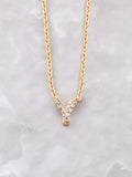 Pave Initial Letter Necklace Anarchy Street Gold- Y