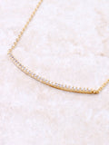 Curved Bar Pave Necklace Anarchy Street Gold - Details