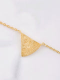 Pizza Slice Necklace Anarchy Street Gold - Details