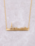 Skyline Necklace Anarchy Street Gold - Details-PAR