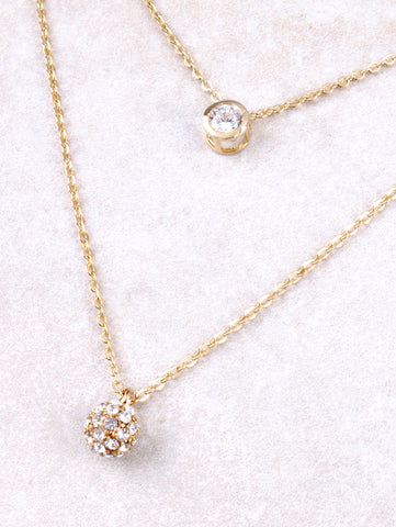 Pave Ball Necklace Anarchy Street Gold - Details
