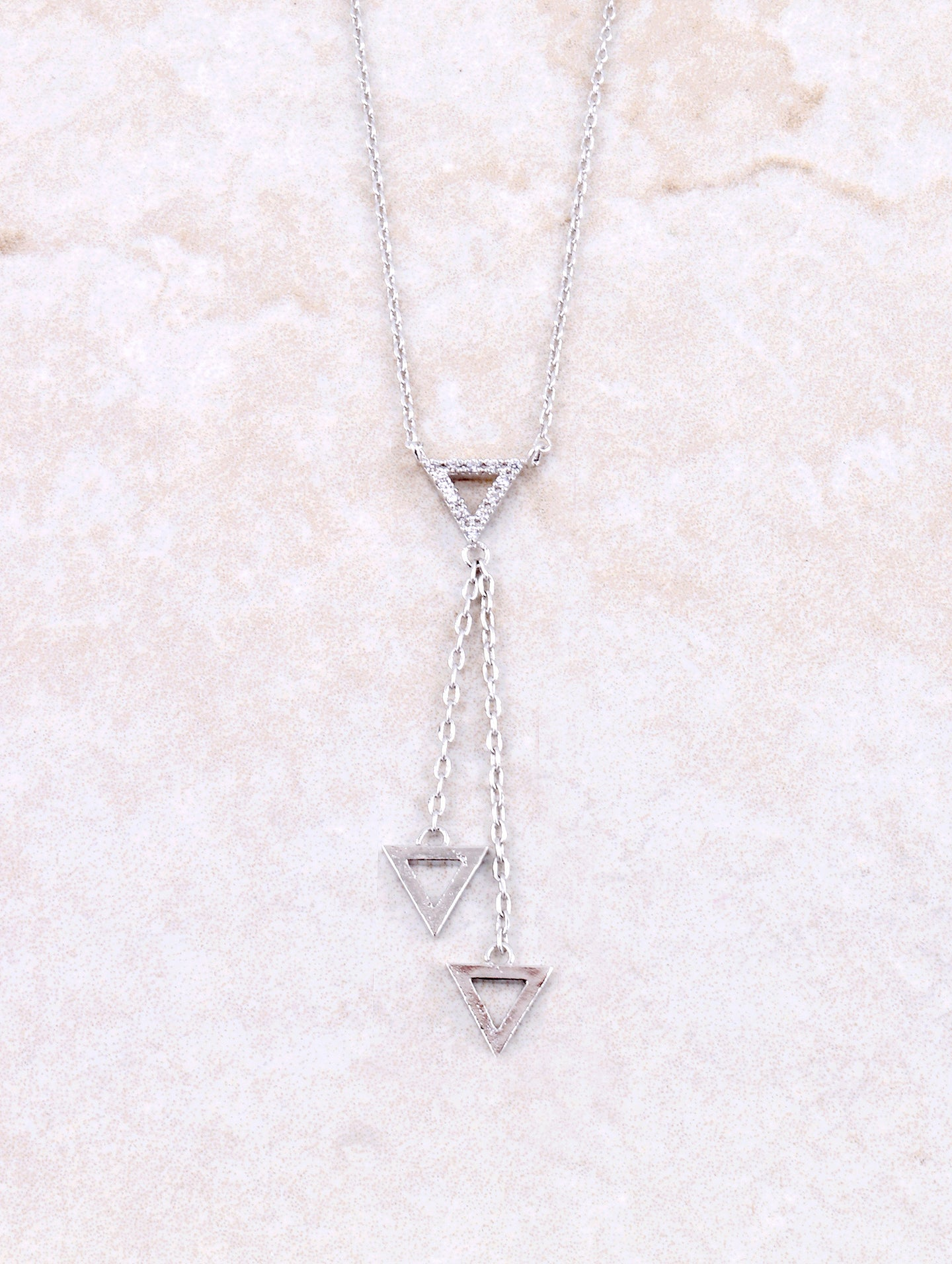 Hanging Triangle Necklace Anarchy Street Silver