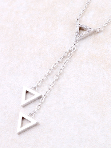 Hanging Triangle Necklace Anarchy Street Silver - Details