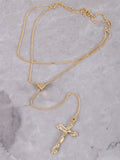 Pull Tie Crucifix Necklace