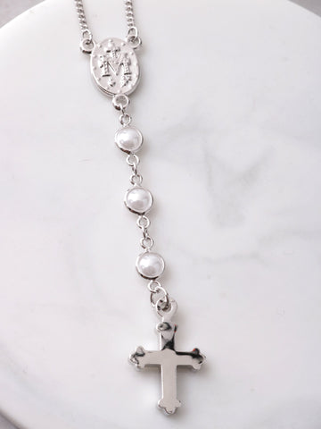 Half Rosary Necklace Anarchy Street Silver - Details