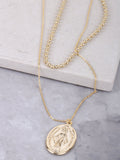 Oversized Mary Pendant Necklace Anarchy Street Gold