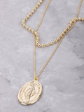 Oversized Mary Pendant Necklace Anarchy Street Gold - Details