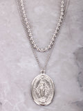 Oversized Mary Pendant Necklace Anarchy Street Silver