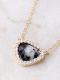 Gemstone Pave Necklace Anarchy Street Labradorite - Details