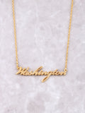 Hometown Necklace Anarchy Street Gold - 9
