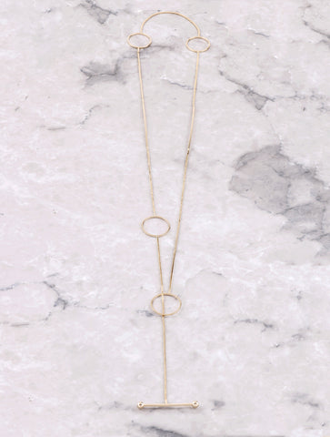Loops And Bars Necklace Anarchy Street Gold