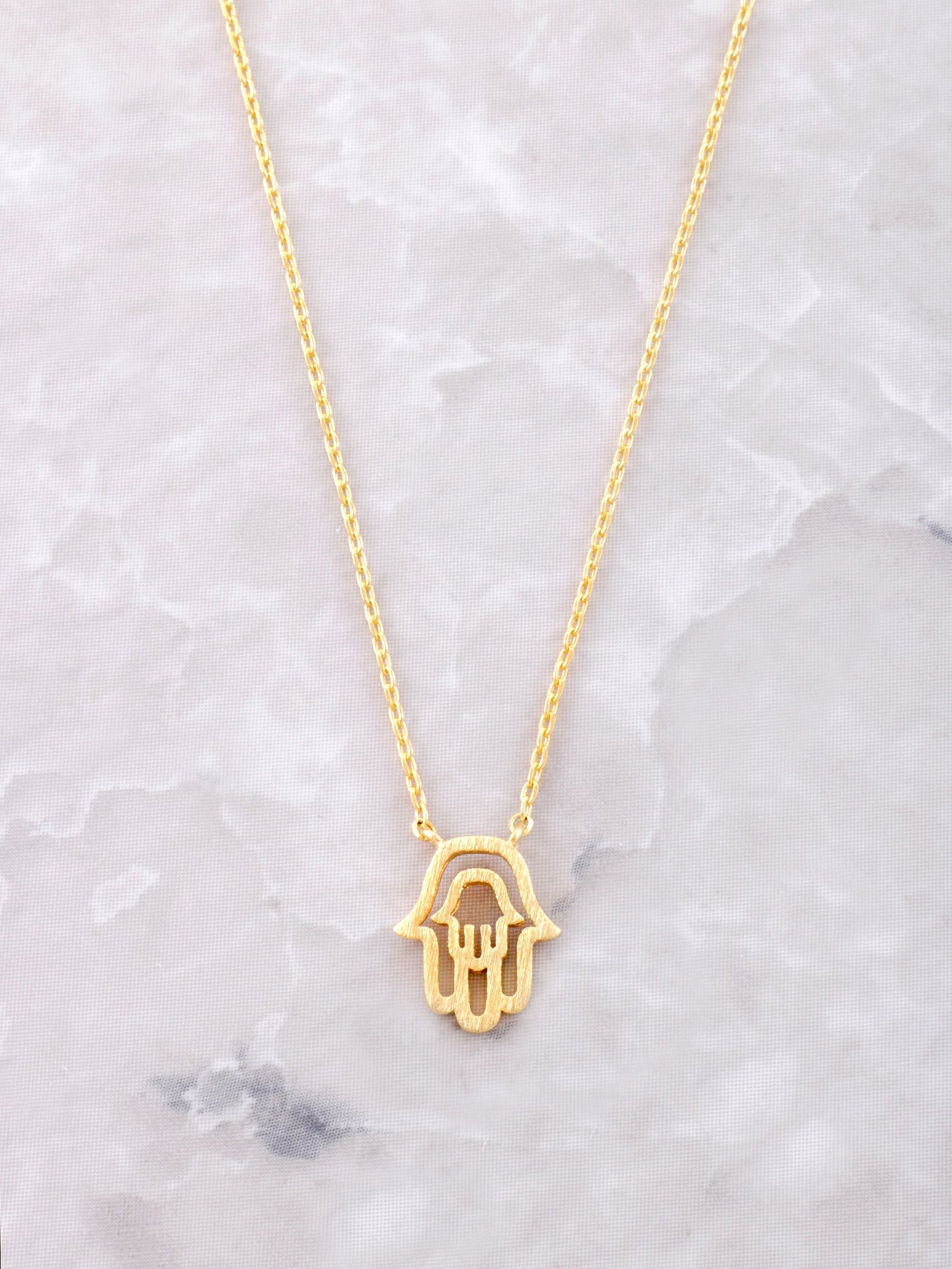 Cutout Hamsa Necklace Anarchy Street Gold