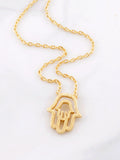 Cutout Hamsa Necklace Anarchy Street Gold - Details