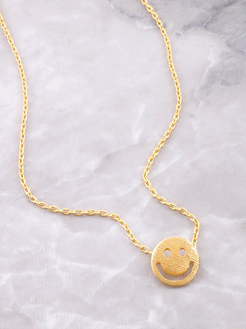 Happy Face Necklace Anarchy Street Gold - Details