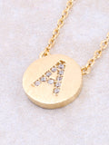 Circle Initial Necklace Anarchy Street - Gold A