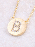 Circle Initial Necklace Anarchy Street - Gold B
