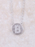Circle Initial Necklace Anarchy Street Silver B